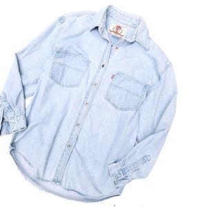 Vintage Levi's Denim Jean Buttoned Top